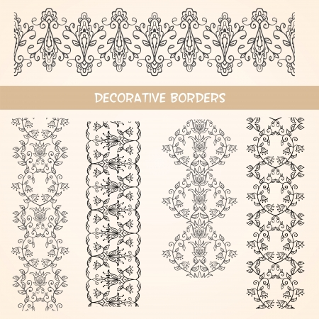 Decorative floral elements  Vintage design elements Stock Photo