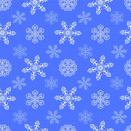 Winter pattern with snowflakes. Seamless pattern can be used for wallpaper, pattern fills, surface textures, wrapping paper.  Illustration