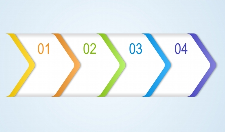 Abstract numbered banners. Progress option background. Vector illustration.Can be used for business presentation, info graphics, web-site or business report. Illustration
