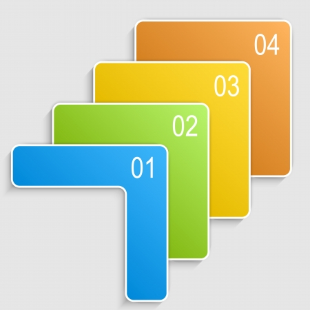 Abstract genummerde banners. Progress optie achtergrond. Vector illustration.Can worden gebruikt voor zakelijke presentatie, info graphics, web-site of business report. Stockfoto - 24051503