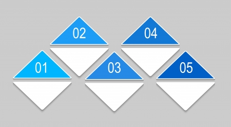 Abstract numbered banners with triangles. Progress option background. Can be used for business presentation, info graphics, web-site