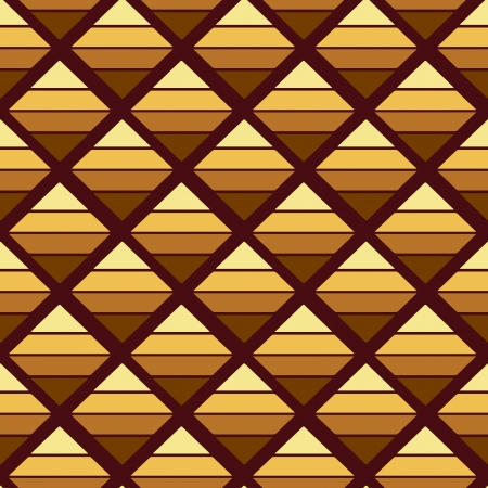 Abstract brown geometric background with triangles  Illustration