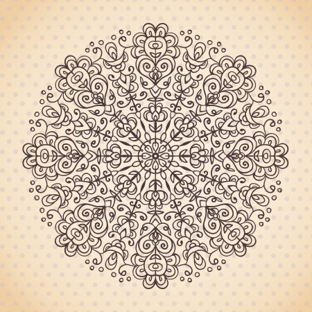 Decorative lace ethnic element  Can be used for backgrounds, packaging, invitations,vintage cards, wrapping paper  Vintage design element Vector