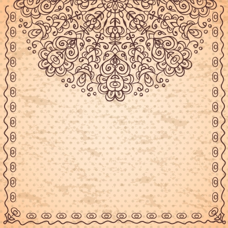 Vintage ethnic background with lace ornament