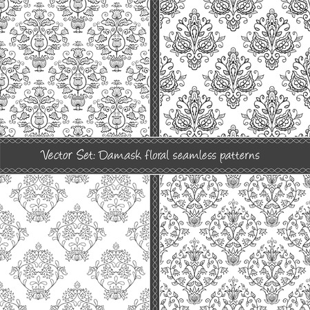 Seamless abstract damask pattern. Seamless pattern can be used for wallpaper, pattern fills, web page background,surface textures, wraping paper. Floral textile background Illustration