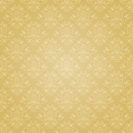 Seamless holiday golden pattern.