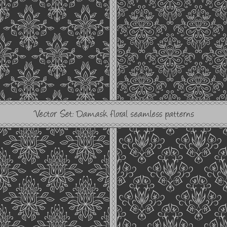 Seamless pattern can be used for wallpaper, pattern fills, web page background,surface textures, wraping paper. Floral textile background Illustration