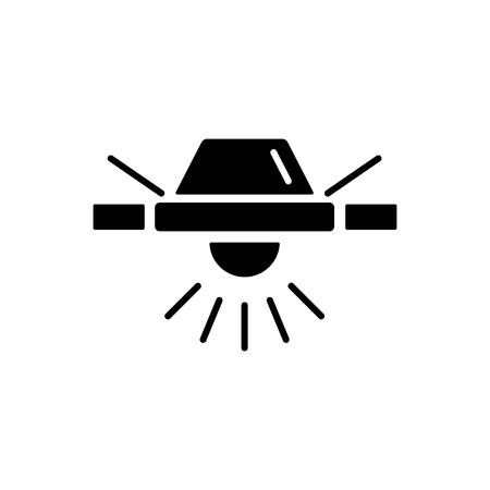 Illustration vectorielle de plafonnier moderne. Icône plate de lumière encastrée. Éclairage pour la maison et le bureau. Objet isolé sur fond blanc. Vecteurs