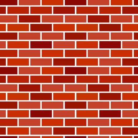 Red brick wall background. Seamless vector pattern. Brickwork & masonry texture. Stretcher running bond Illustration