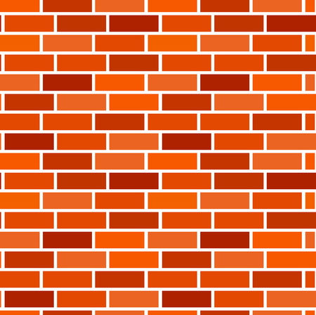 Orange brick wall background. Seamless vector pattern. Brown brickwork & masonry texture. Stretcher running bond