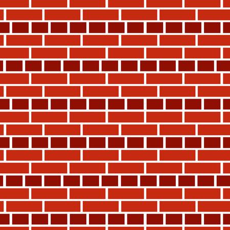 Hintergrund aus rotem Backstein. Nahtloses Vektormuster. Mauerwerk und Mauerwerk Textur. Englische Anleihe