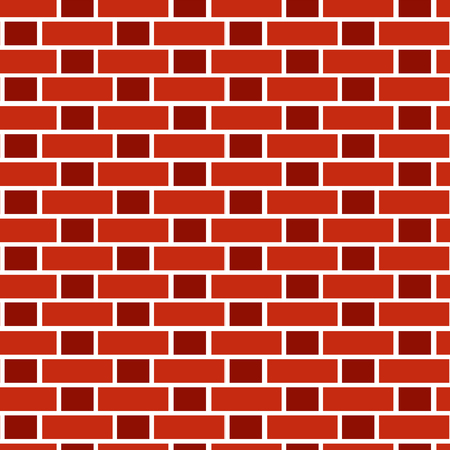 Hintergrund aus rotem Backstein. Nahtloses Vektormuster. Mauerwerk und Mauerwerk Textur. Flämischer Bund Vektorgrafik