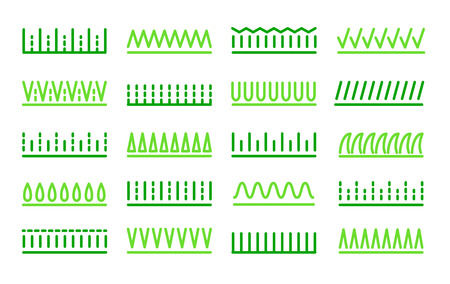 Grass icon vector set. Lawn meadow line symbols. Natural park & garden signs. Isolated object on white background