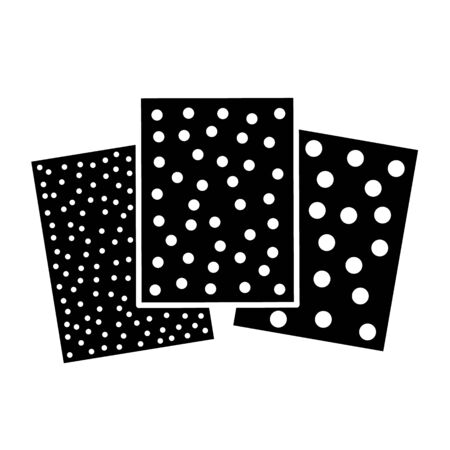 Sandpaper flat icon. Black & white illustration of sanding abrasive paper. Glasspaper sheet with grain texture. Isolated object Stock Illustratie