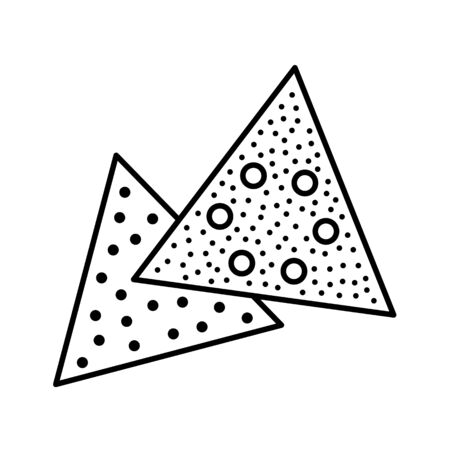 Sandpaper triangle line icon. Black & white illustration of sanding abrasive paper with holes. Glasspaper pads. Isolated objects Illustration