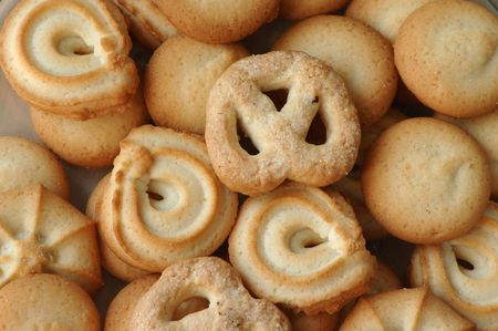 close-up biscuits