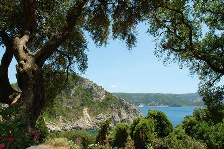 seaside of Paleokastrica, Corfu, Greece