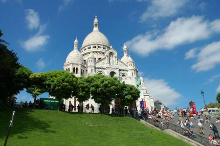 The Sacre-Coeur basilica in Montmartre, Paris