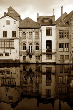 Old houses. Ghent, Belgium Stock Photo