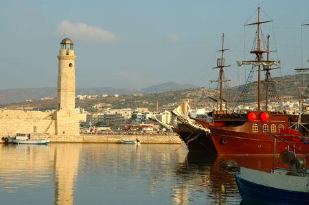 kreta: Alte Hafen von Rethymnon, Kreta, Griechenland