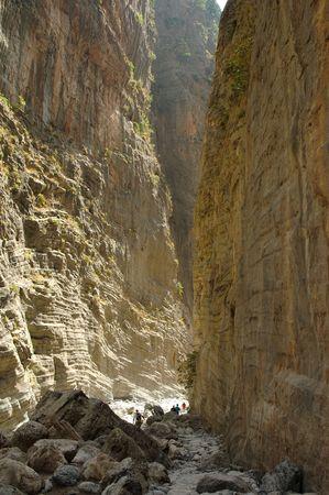 hardness: Samaria Gorge. Creta, Greece