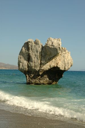 kreta: Sea Rock. Kreta, Griechenland