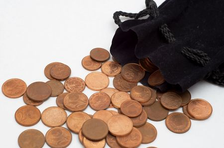 penury: Euro cent coins
