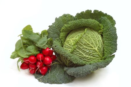 Cabbage and radishes