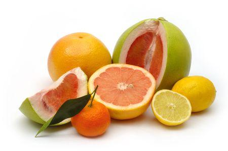 Grapefruit, lemon, pomelo and mandarin photo
