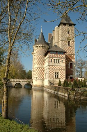 Chateau des Reaux. France Stock Photo