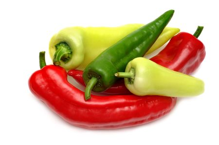 red chili pepper: Colorful peppers