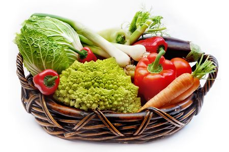 Vegetables in the basket photo