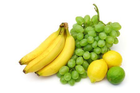 Yellow-green fruits still-life Stock Photo - 473901