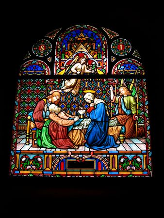 church window: Stained-glass church window