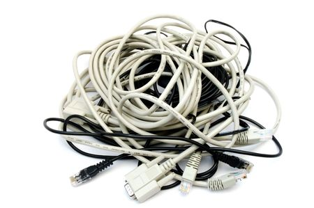 Entangled computer cables