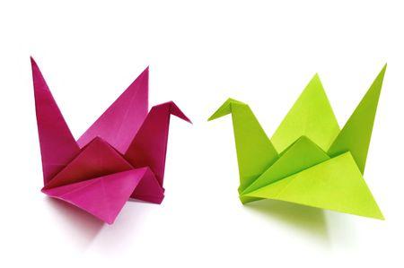 Origami birds Stock Photo - 624038