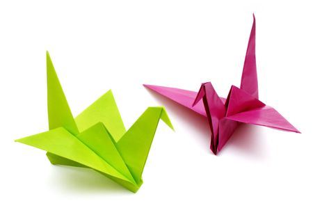 Origami birds Stock Photo - 624039