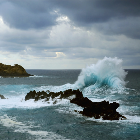 storm waves: Madeira island, Atlantic Ocean