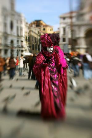 Venice carnival. Selectiv focus photo