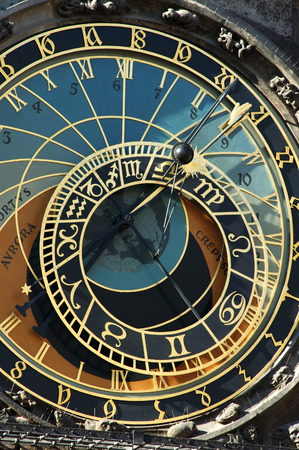 Astronomical clock in Prague, Czech republic photo
