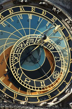 Astronomical clock in Prague, Czech republic photo