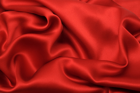 Red silk textile abstract background Stock Photo - 1630679