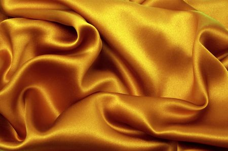 Golden silk textile