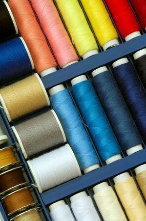 Colorful thread set Stock Photo