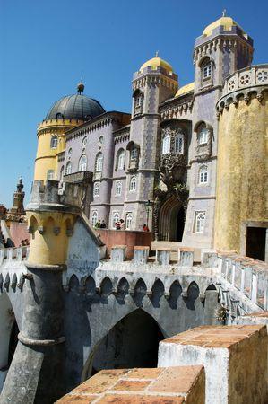 pena: Palacio da Pena, Sintra, Portugal Stock Photo