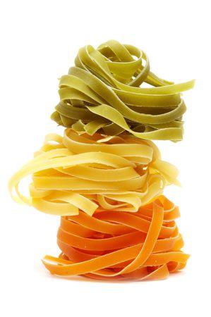 Tagliatelle. Italian pasta Stock Photo
