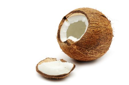 copra: Cracked coconut