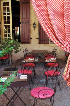 Outdoor cafe. Provence, France Stock Photo