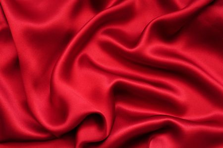 Red satin background Stock Photo - 3160586