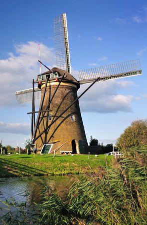 Windmill in Kinderdijk, Holland Stock Photo - 3723100